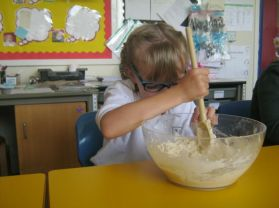 Class 3 loves getting their hands dirty