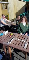 The Kestrels and the Colts made the most of the sunny day yesterday for Clubs and stayed outside to play board games.